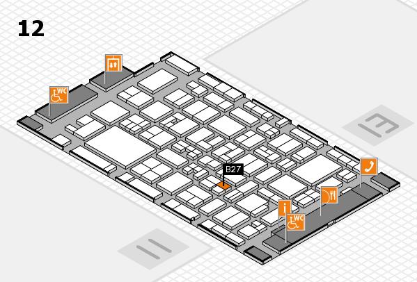 MEDICA 2017 hall map (Hall 12): stand B27