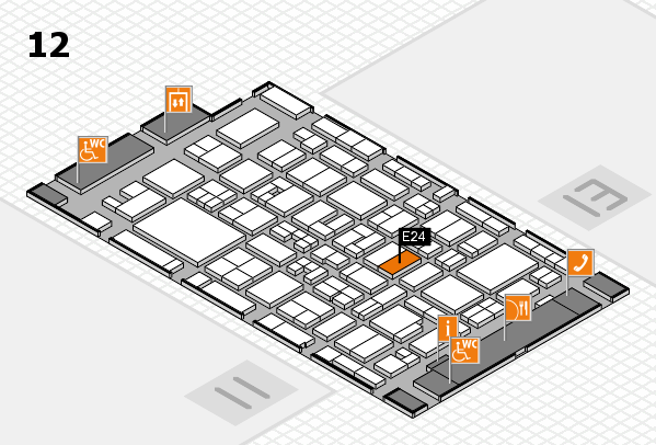 MEDICA 2017 Hallenplan (Halle 12): Stand E24
