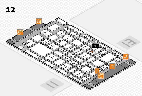 MEDICA 2017 Hallenplan (Halle 12): Stand E25