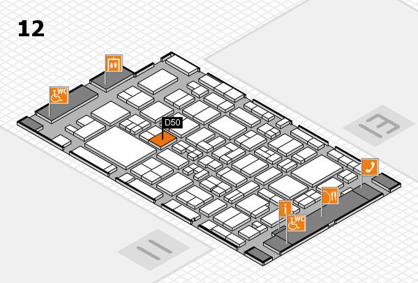 MEDICA 2017 Hallenplan (Halle 12): Stand D50