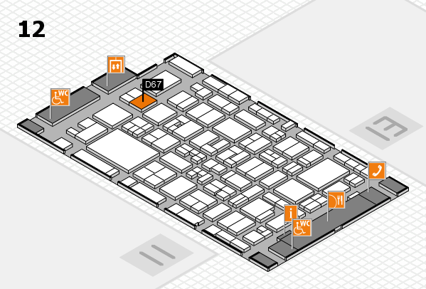 MEDICA 2017 hall map (Hall 12): stand D67