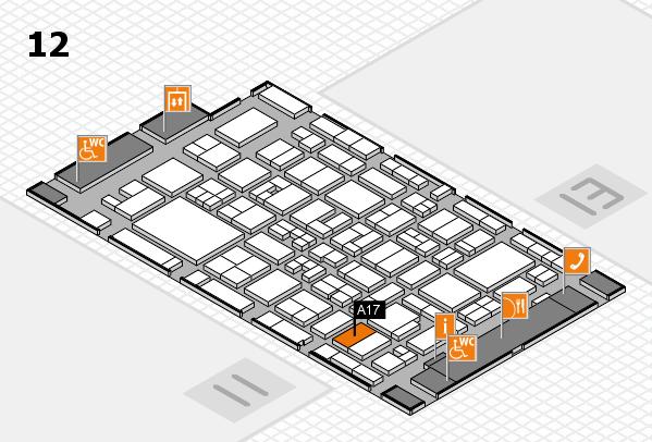 MEDICA 2017 hall map (Hall 12): stand A17