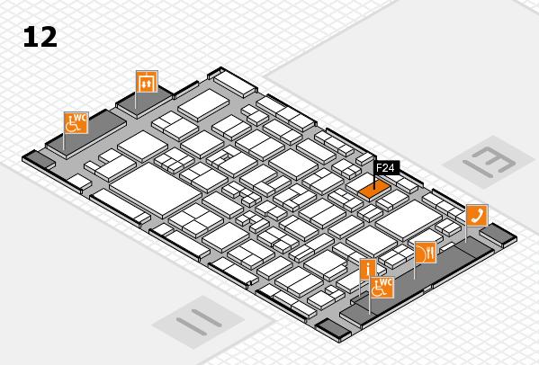 MEDICA 2017 Hallenplan (Halle 12): Stand F24