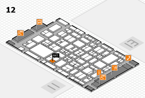 MEDICA 2017 hall map (Hall 12): stand A41