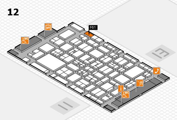 MEDICA 2017 hall map (Hall 12): stand F61