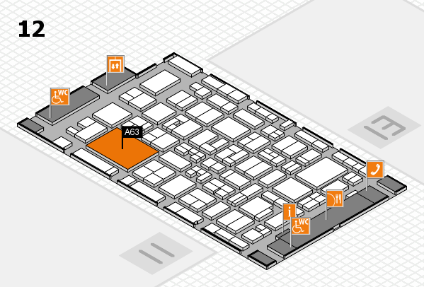 MEDICA 2017 hall map (Hall 12): stand A63