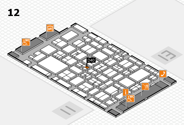 MEDICA 2017 hall map (Hall 12): stand D40