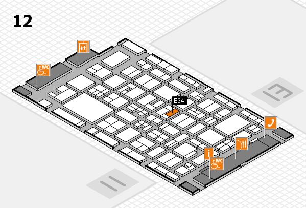 MEDICA 2017 Hallenplan (Halle 12): Stand E34