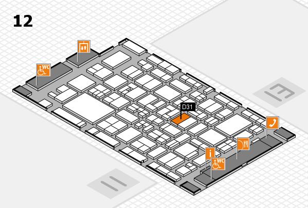 MEDICA 2017 Hallenplan (Halle 12): Stand D31