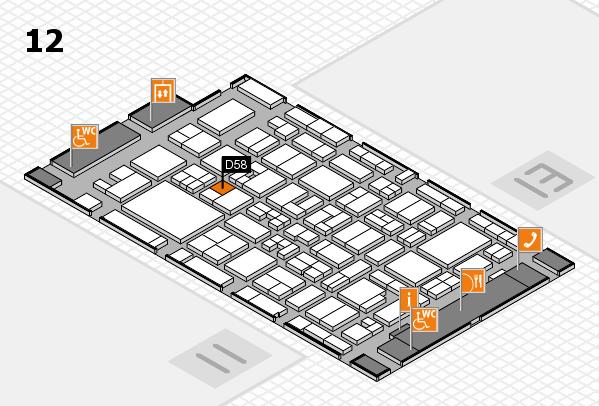 MEDICA 2017 Hallenplan (Halle 12): Stand D58