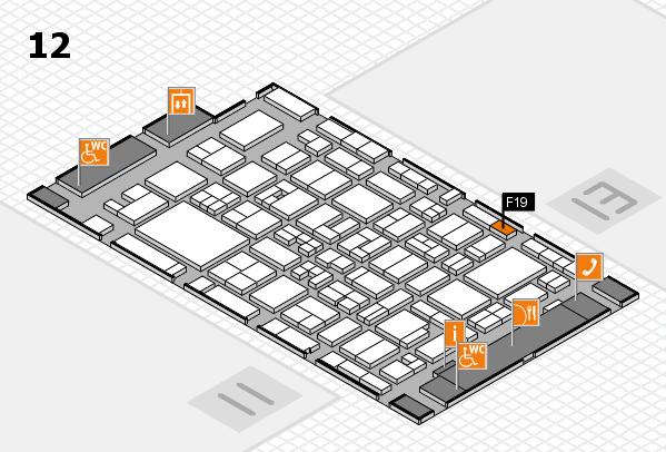 MEDICA 2017 Hallenplan (Halle 12): Stand F19
