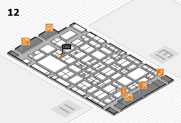MEDICA 2017 Hallenplan (Halle 12): Stand D60