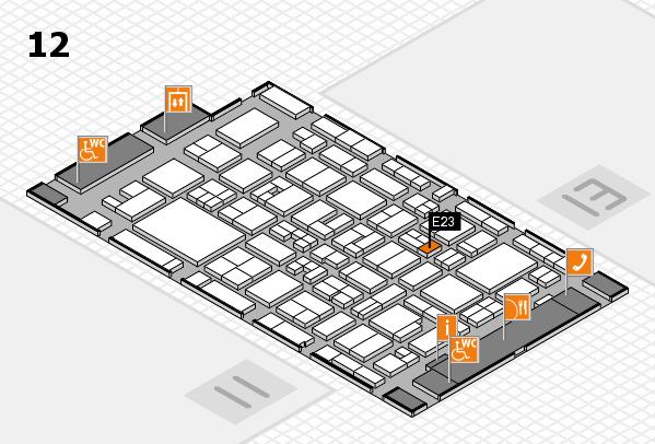 MEDICA 2017 hall map (Hall 12): stand E23