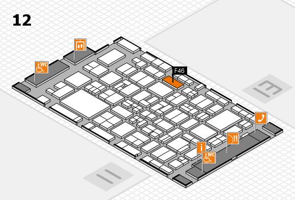 MEDICA 2017 Hallenplan (Halle 12): Stand F46