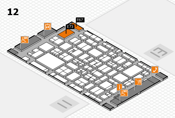 MEDICA 2017 Hallenplan (Halle 12): Stand E73, Stand F67