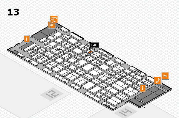 MEDICA 2017 hall map (Hall 13): stand E40
