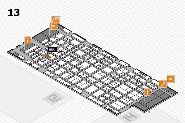MEDICA 2017 hall map (Hall 13): stand B60