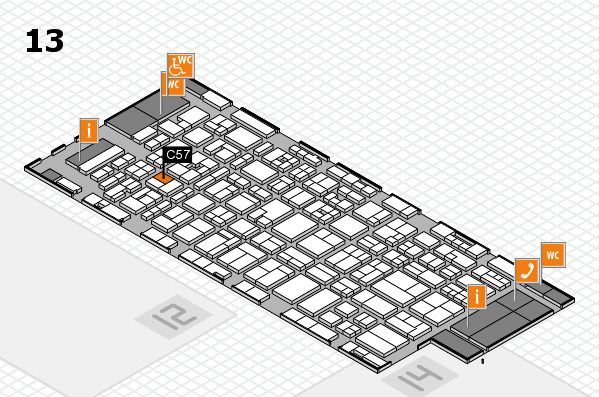 MEDICA 2017 hall map (Hall 13): stand C57