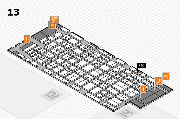 MEDICA 2017 hall map (Hall 13): stand F16