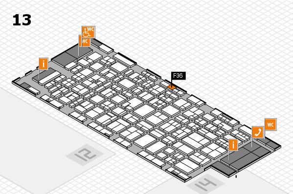 MEDICA 2017 hall map (Hall 13): stand F36