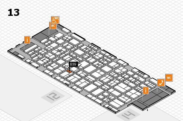 MEDICA 2017 hall map (Hall 13): stand B39