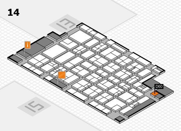 MEDICA 2017 Hallenplan (Halle 14): Stand D60