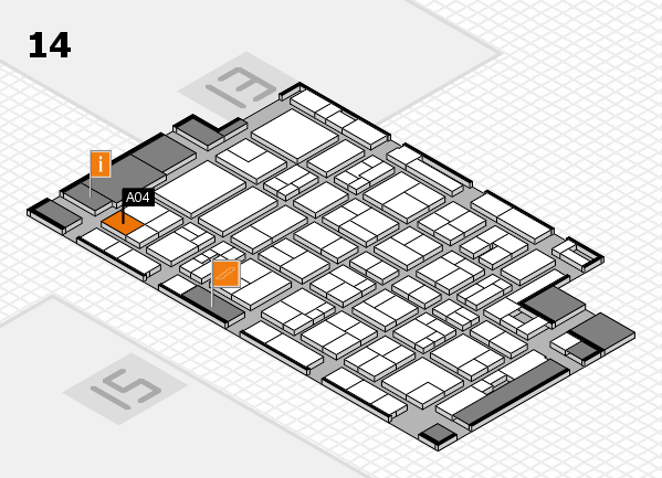 MEDICA 2017 hall map (Hall 14): stand A04