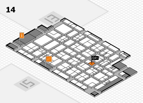 MEDICA 2017 Hallenplan (Halle 14): Stand D41