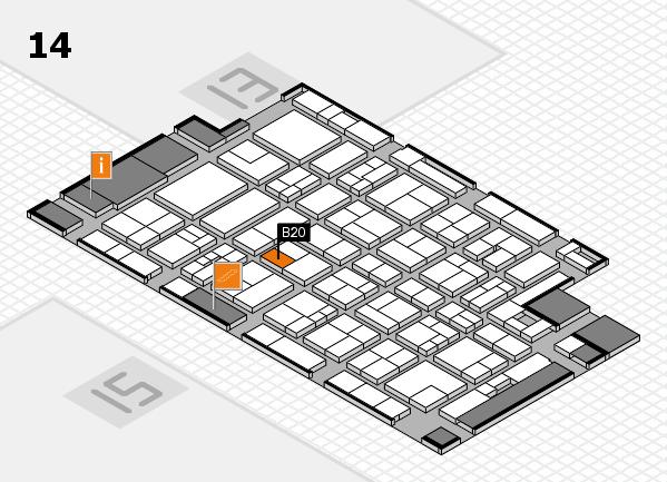 MEDICA 2017 hall map (Hall 14): stand B20