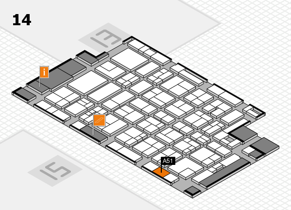 MEDICA 2017 hall map (Hall 14): stand A51