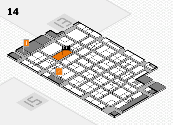 MEDICA 2017 Hallenplan (Halle 14): Stand D11