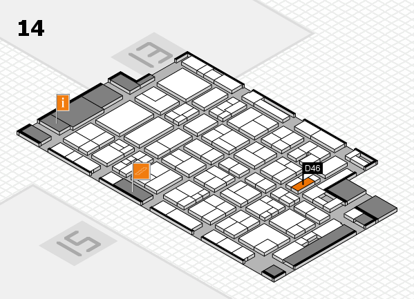 MEDICA 2017 hall map (Hall 14): stand D46