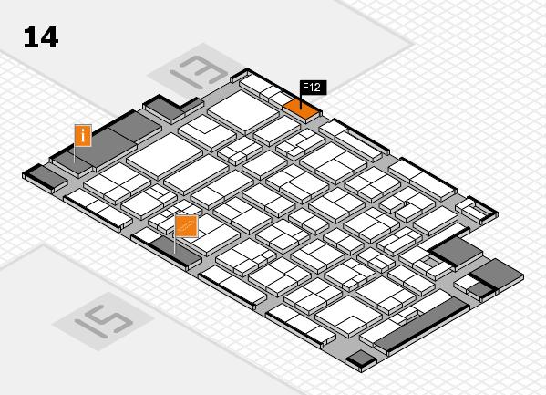 MEDICA 2017 Hallenplan (Halle 14): Stand F12