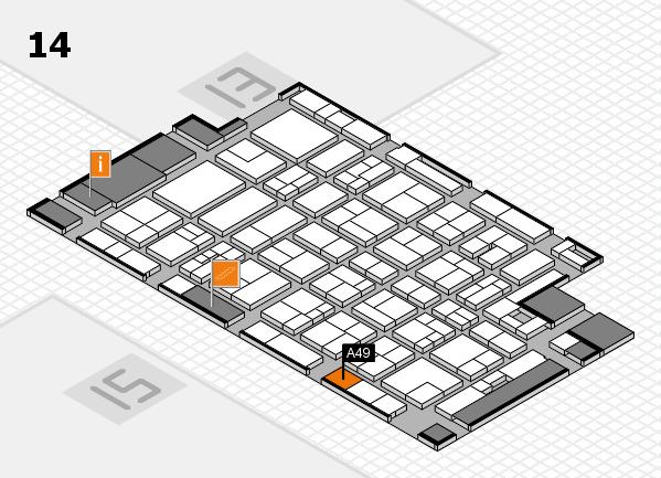 MEDICA 2017 hall map (Hall 14): stand A49