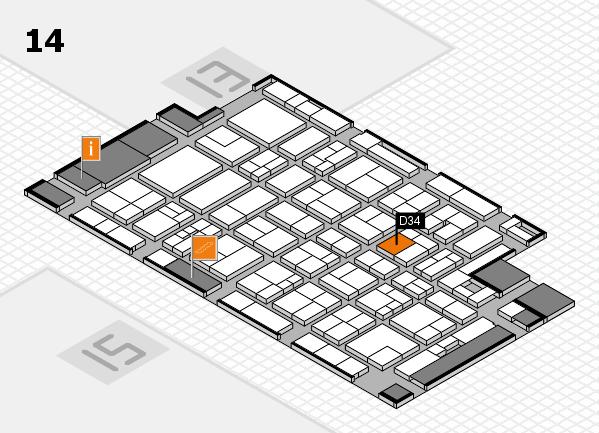 MEDICA 2017 Hallenplan (Halle 14): Stand D34