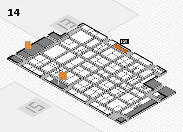 MEDICA 2017 Hallenplan (Halle 14): Stand F28