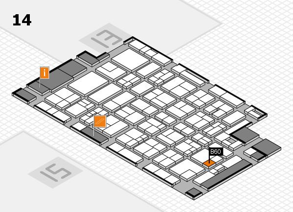 MEDICA 2017 hall map (Hall 14): stand B60