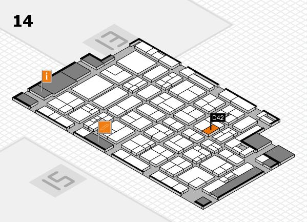 MEDICA 2017 Hallenplan (Halle 14): Stand D42