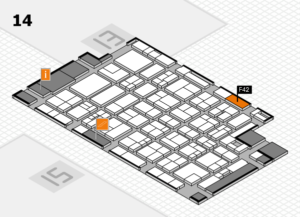 MEDICA 2017 Hallenplan (Halle 14): Stand F42