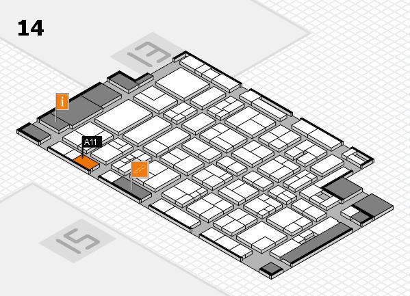 MEDICA 2017 hall map (Hall 14): stand A11