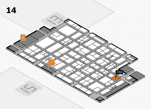 MEDICA 2017 hall map (Hall 14): stand C60