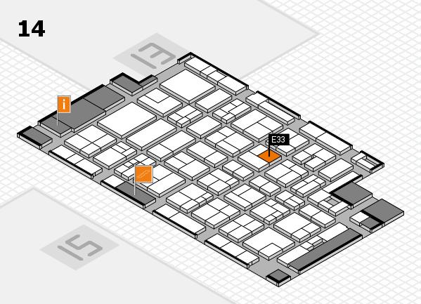 MEDICA 2017 Hallenplan (Halle 14): Stand E33