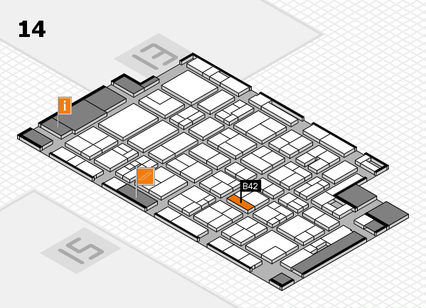 MEDICA 2017 hall map (Hall 14): stand B42