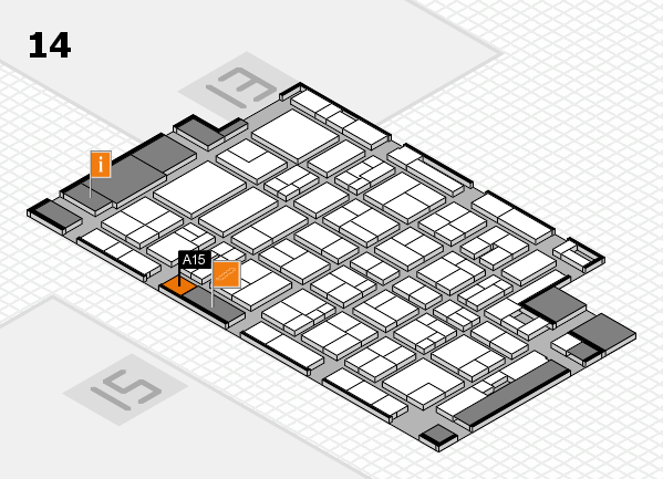 MEDICA 2017 Hallenplan (Halle 14): Stand A15