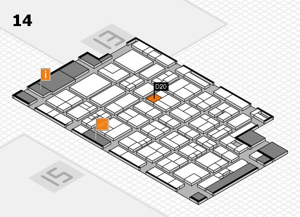 MEDICA 2017 Hallenplan (Halle 14): Stand D20