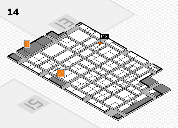 MEDICA 2017 Hallenplan (Halle 14): Stand F15