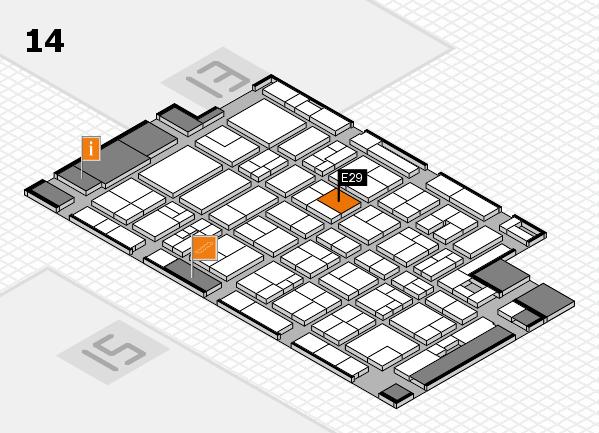MEDICA 2017 Hallenplan (Halle 14): Stand E29