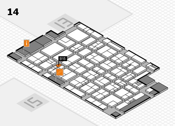 MEDICA 2017 hall map (Hall 14): stand B15