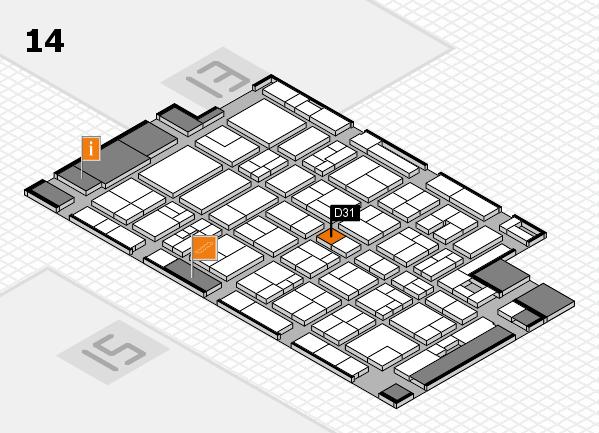 MEDICA 2017 Hallenplan (Halle 14): Stand D31