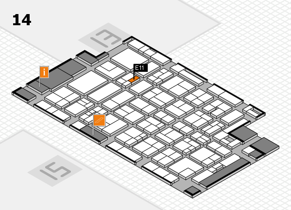 MEDICA 2017 Hallenplan (Halle 14): Stand E11